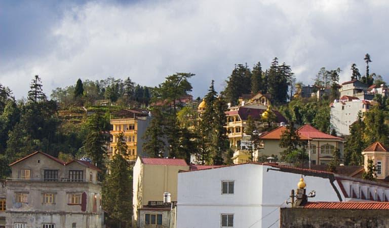 Ausblick vom Hotel in Sapa