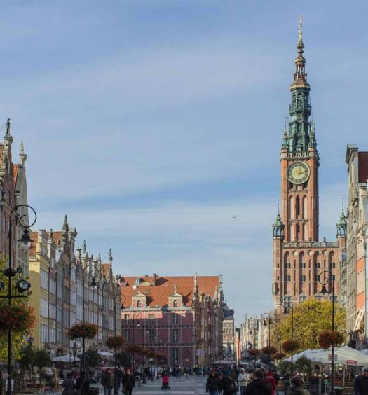 Der Lange Markt in Danzig, Polen