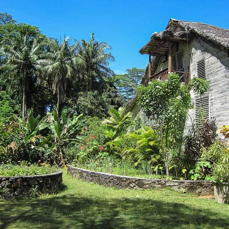 Traditionelles Holzhaus auf Mahé