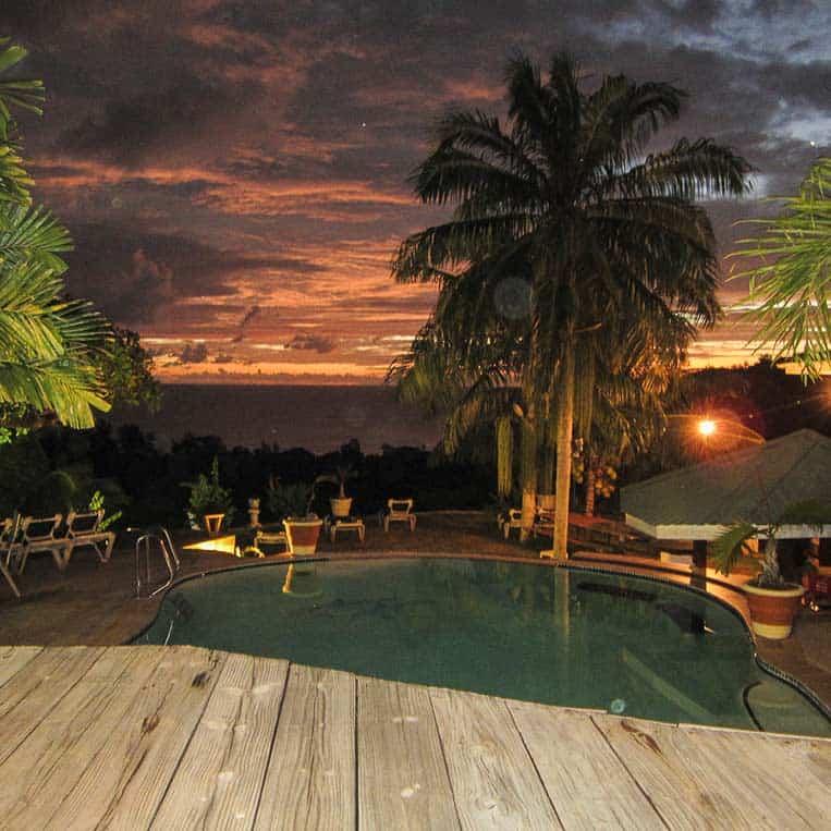 Sonnenuntergang Seychellen