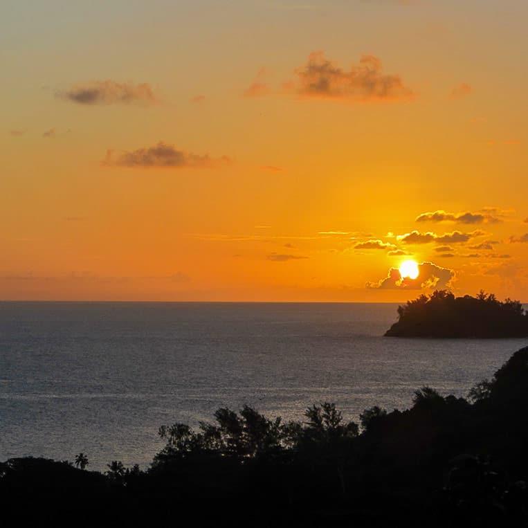 Auf Mahé gibt es den schönsten Sonnenuntergang der Welt