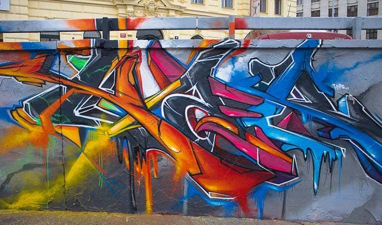 Open-Air Streetart Gallery in Prag