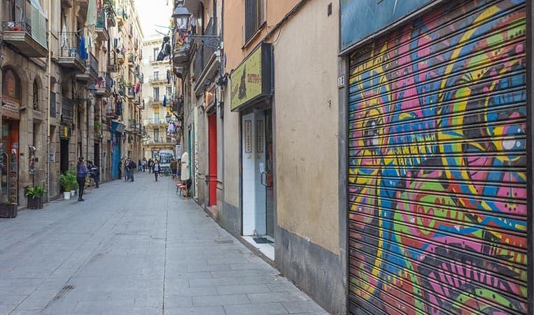 Streetart in El Raval