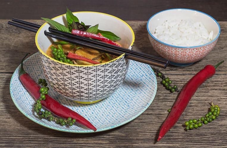 Rotes Thai Curry mit Rindfleisch