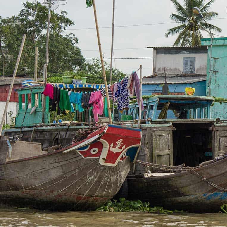 Schwimmender Markt in Cai Be