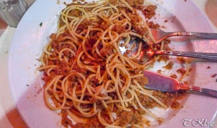 Spaghetti Bolognese in Brüssel