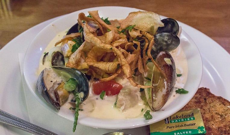 die beste Seafood Chowder, die ich je gegessen habe!