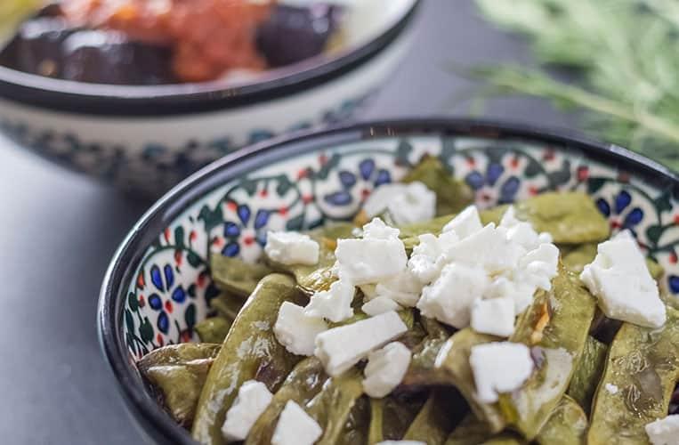Grüne Bohnen aus dem Ofen
