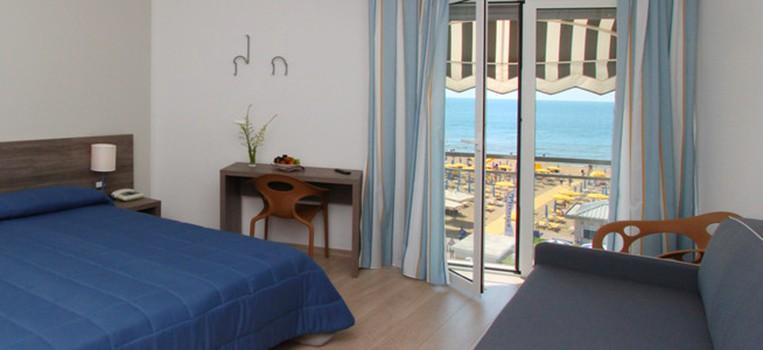 Die Zimmer im Hotel delle Mimose