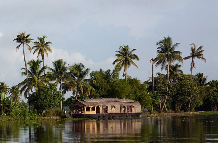 Die Backwaters in Kerala