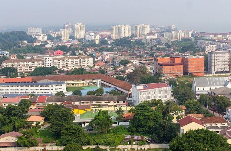 ...mit Ausblick auf Melaka