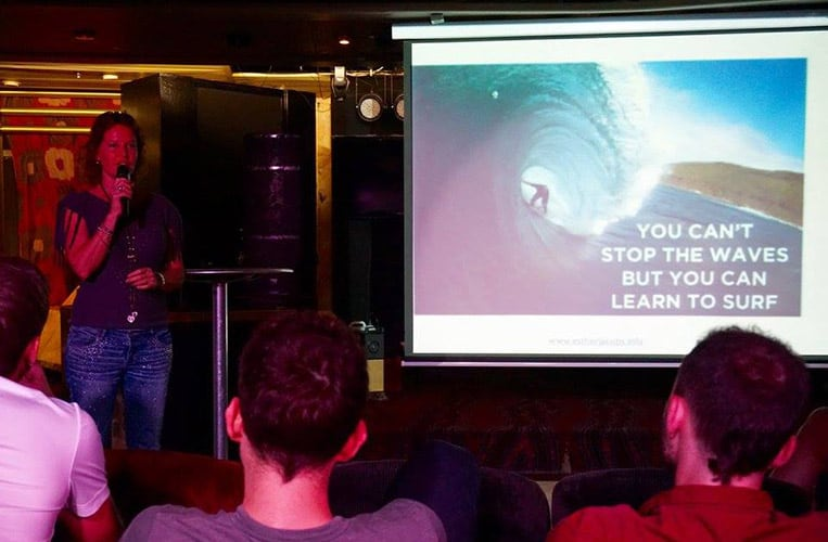 "Esther Jacobs: ""You can't stop the waves, but you can learn to surf!"""