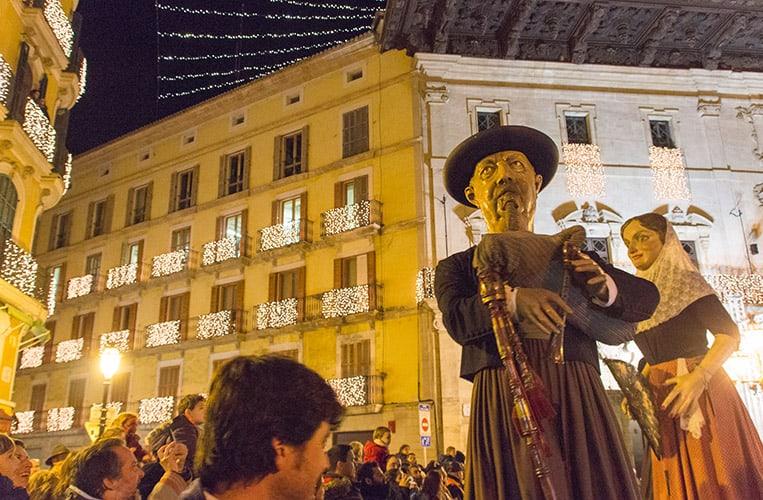Umzug der Gigantes an San Sebastián