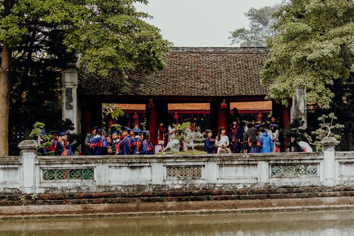 Der Literaturtempel Hanoi Vietnam