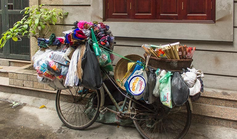 Fahrrad in Hanoi