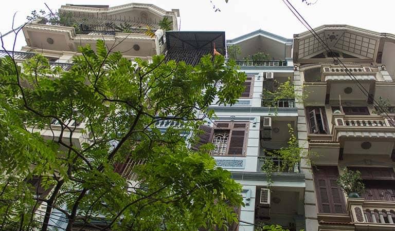 Typische Häuser in Hanois Altstadt