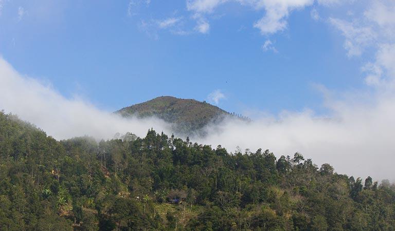 Die Landschaft ist einmalig, selbst wenn bei uns Nebel vorherrschte