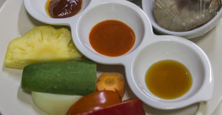 Zutaten für die Garnelen süß-sauer