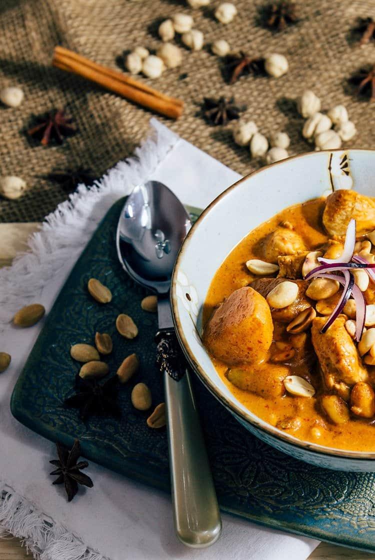 Gaeng Massaman Curry nach einem Originalrezept aus Thailand