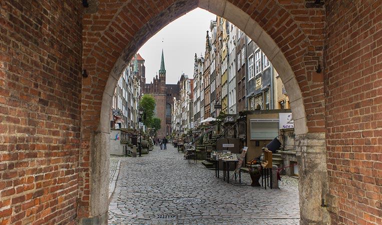 Die Frauengasse in Danzig, Polen