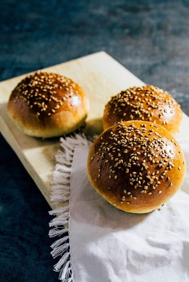Brioche Burger Buns – die perfekten Burger Brötchen