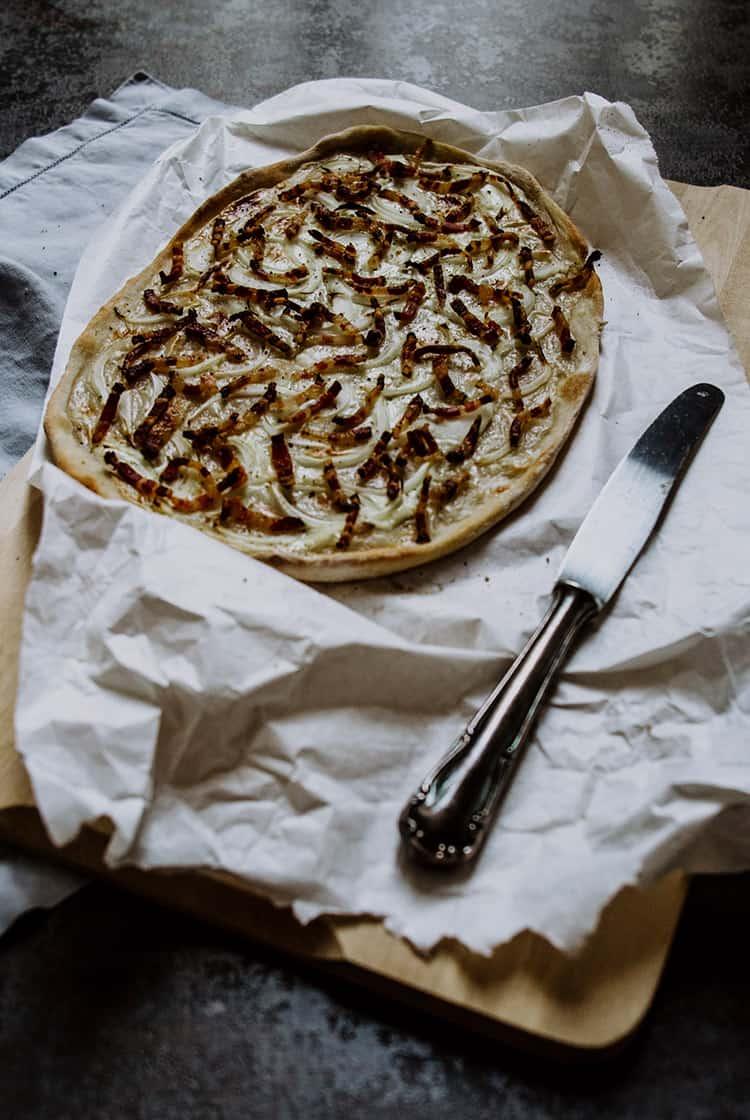 Elsässer Flammkuchen – Tarte flambée