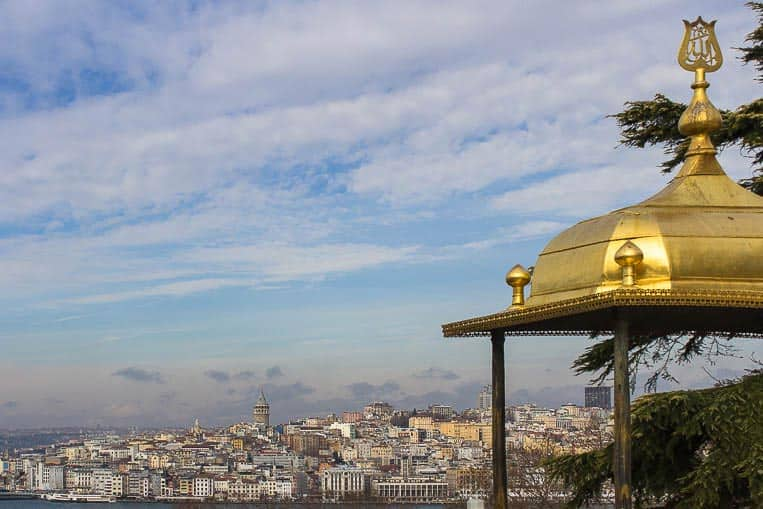 Blick vom Topkapi Palast in Istanbul