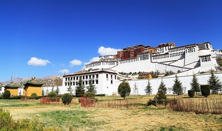 Der Potala Palast in Lhasa, Tibet