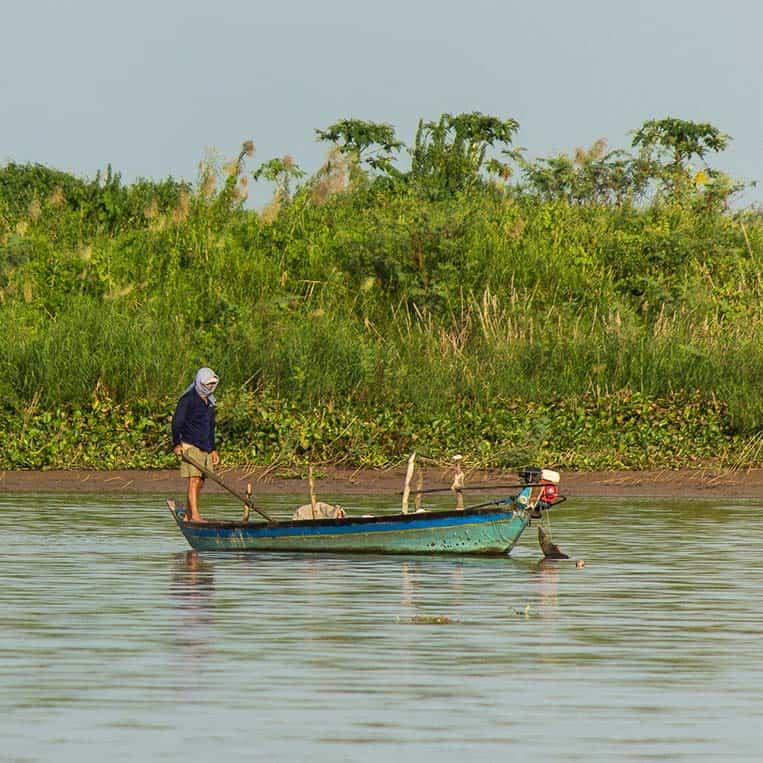Fischer im Mekong