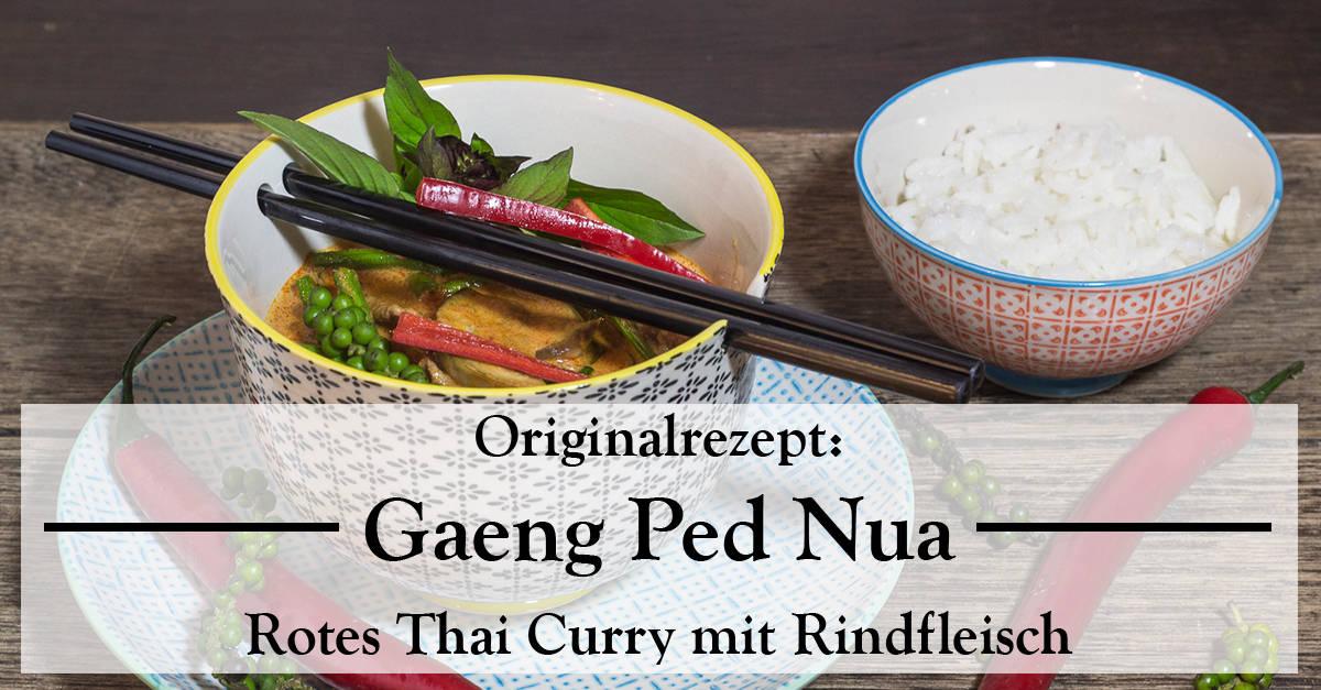 Rezept für rotes Thai Curry mit Rindfleisch