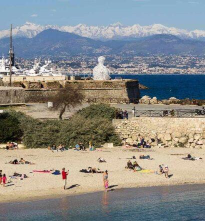 Der Strand von Antibes – Côte d'Azur – Südfrankreich