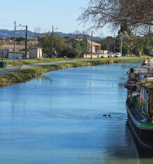 Canal du Midi, Languedoc-Roussillon, Frankreich