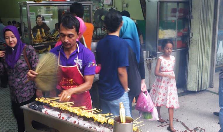 Die besten Satayspiesse in Kuala Lumpur!