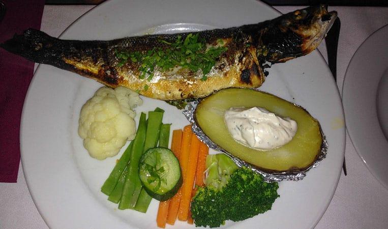 """Fisch im Restaurant """"Santo António de Alfama"""""""
