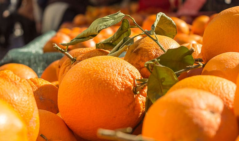 Orangen am Markt in Nizza