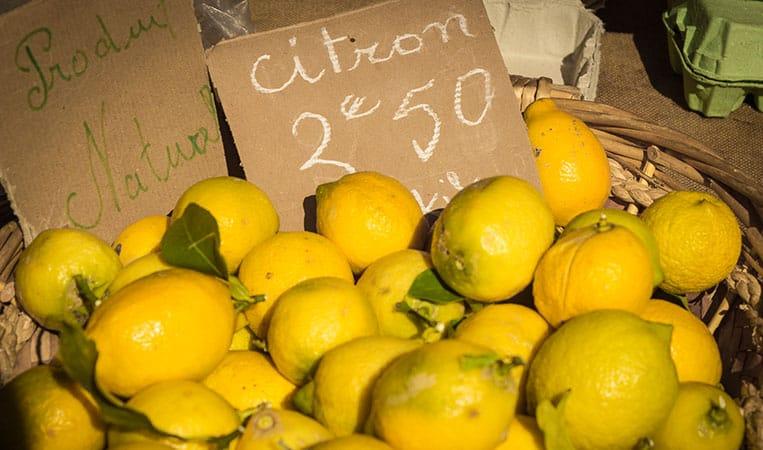Zitronen am Markt in Nizza