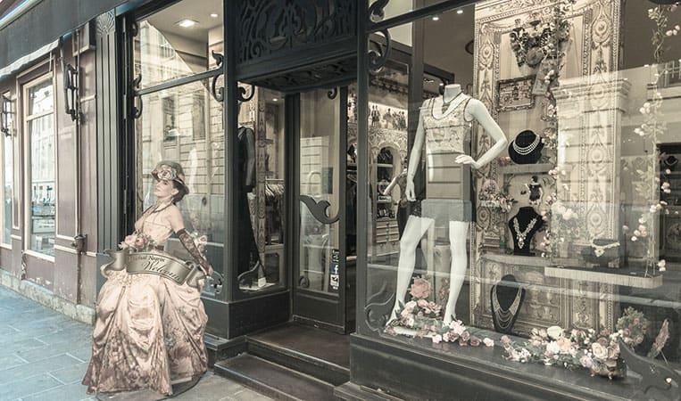 Ich liebe die kleinen Boutiquen in Nizza