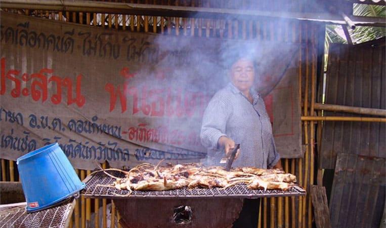 Ratten vom Grill / Thailand