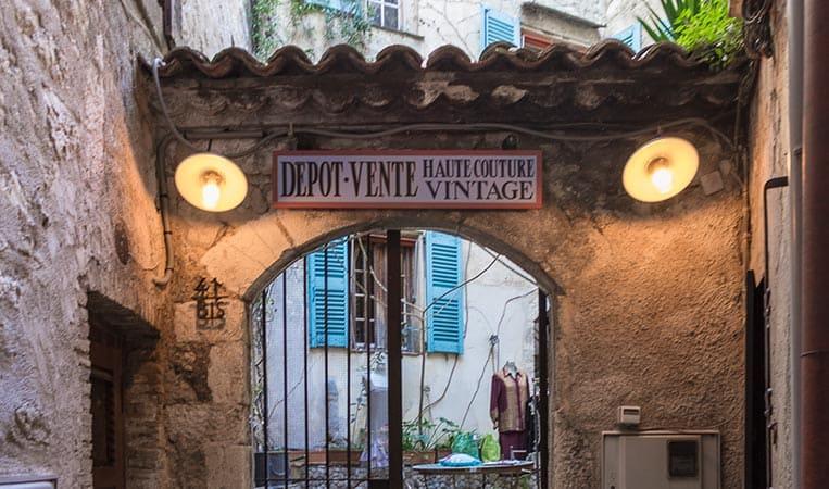 Vintageladen in Saint-Paul-de-Vence