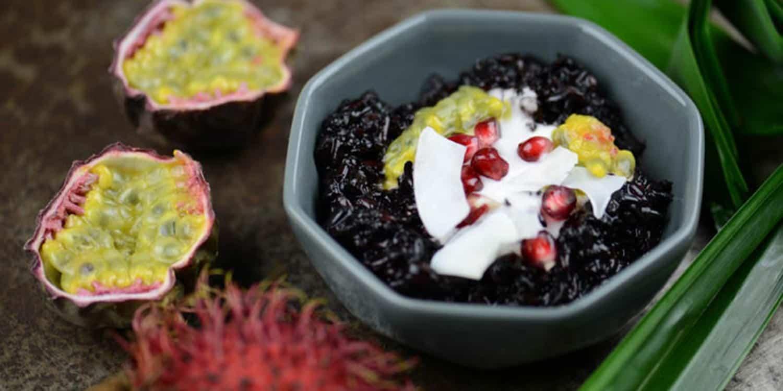 Dessert aus Indonesien: Schwarzer Klebreis-Pudding