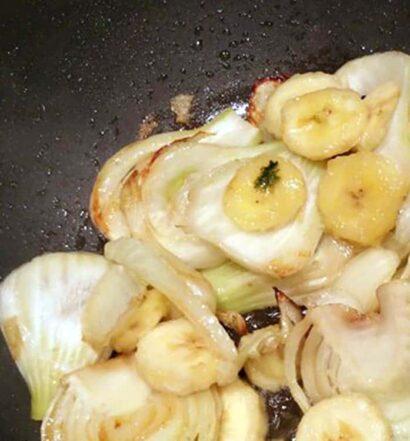 Gebratene Fenchel-Bananen