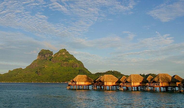 Wasserbungalows auf Bora Bora
