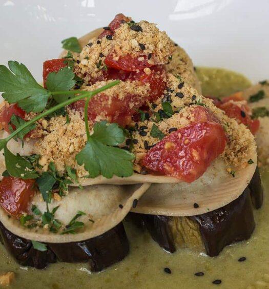 Flexitarisch Essen im Flax & Kale