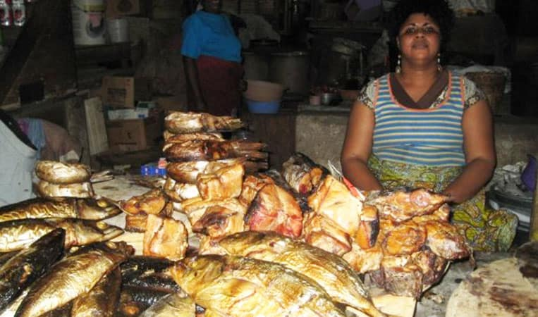 Markt in Ghana
