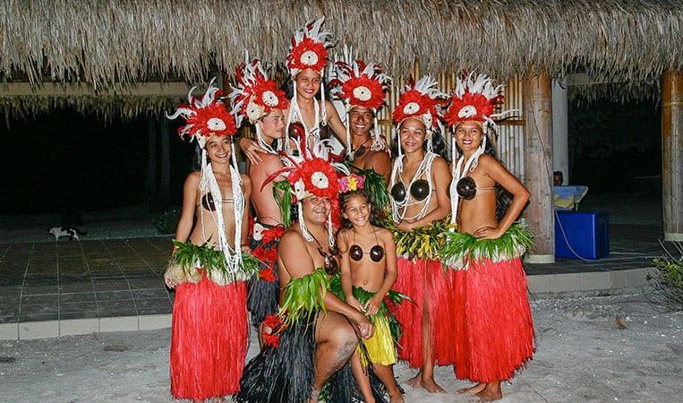 Traditionelle polynesische Tänzer