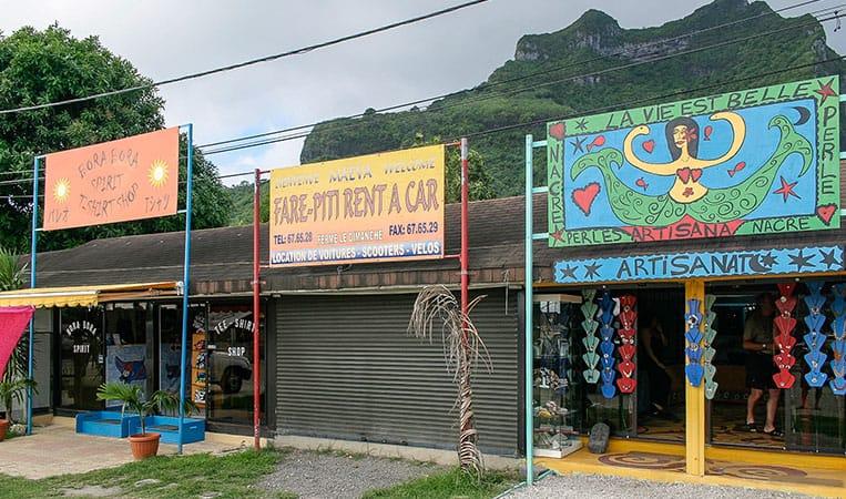 Die Kunstgalerien in Vaitape