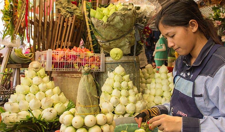 Floristin am Phsar Thmei