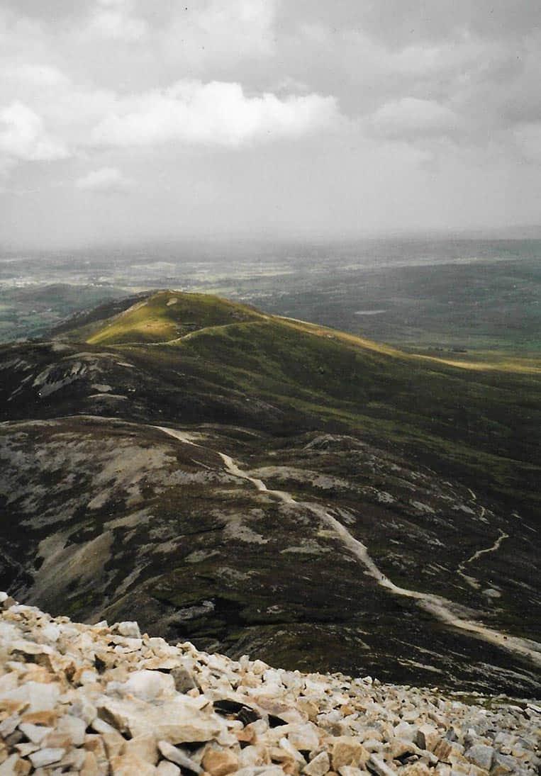 Beim Aufstieg zum Gipfel von Croagh Patrick