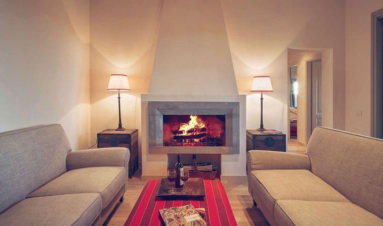 Wohnzimmer eines Apartments | Foto: Toscana Resort Castelfalfi