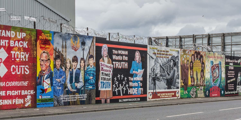 Politische Murals, Belfast, Nordirland